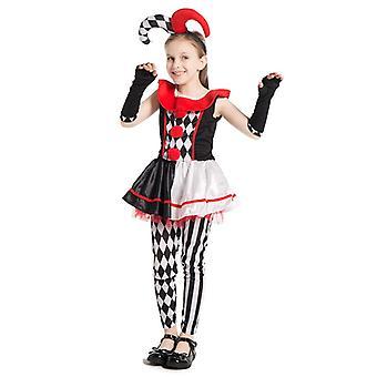 Mädchen Böse Harlekin Honig Narr Kostüm Kinder Zombie Zirkus Halloween Kostüm