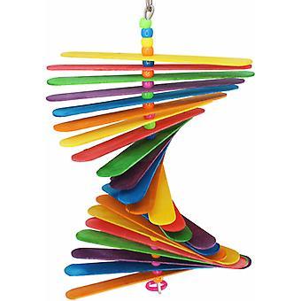 Prírodné farebné stick vtáčie hračky
