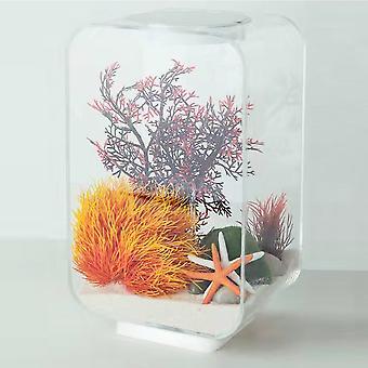 Aquarium Starter Kits Fish Tank with LED Light (only fish tank)