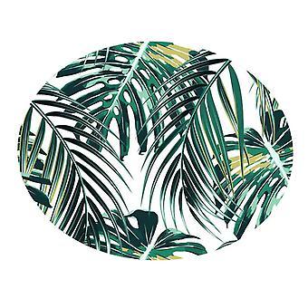 Éléments botaniques Couverture Ronde Salle de Bain Tapis 60cm