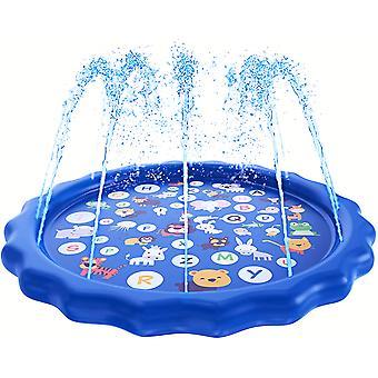 170cm Outdoor Spray Pad Kinderspielmatte Spray Pool Pad, Delfin