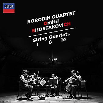 Cuarteto de cuerda Borodin - importación de Shostakovich cuarteto de cuerda Nº 1 8 y 14 [CD] Estados Unidos