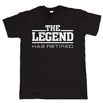 The Legend has Retired Mens Funny Retirement T Shirt - Regalo para papá abuelo