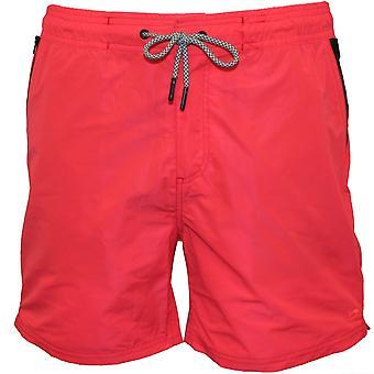 Scotch & Soda Classic Two-Tone Swim Shorts, Coral With Navy