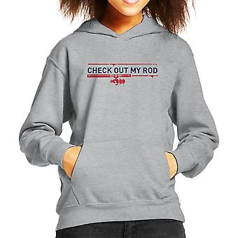 Check Out My Rod Fishing Kid's Hooded Sweatshirt