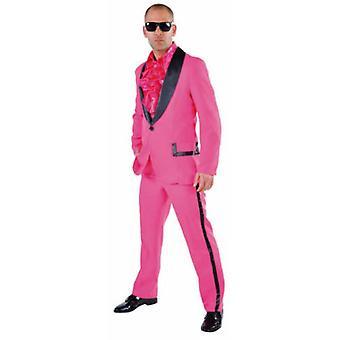 Mannen kostuums roze Tuxedo kostuum