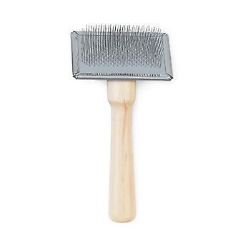 Ancol Pet Products Heritage Wood Handle Soft Slicker Brush