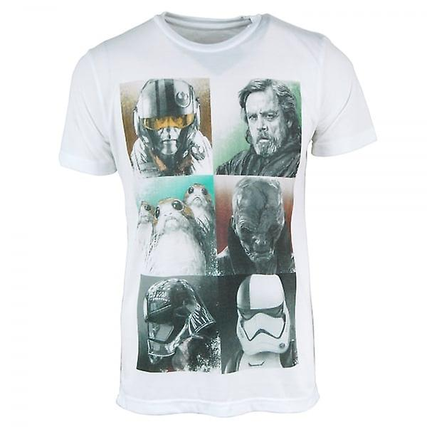 Star Wars Mens The Last Jedi Characters T Shirt White