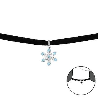 Snowflake - 925 Sterling Silver + Velvet Chokers - W35033X