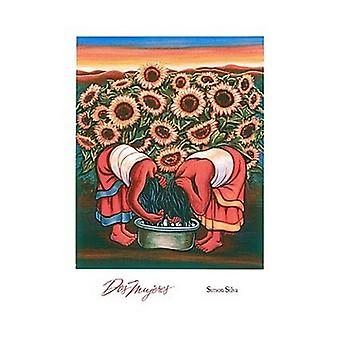 DOS Mujeres Poster Print von Simon Silva (15 x 20)
