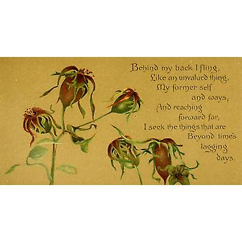Lignelser af Cross 1890 bag min ryg jeg slynge plakat Print af Isabella Lilias Trotter