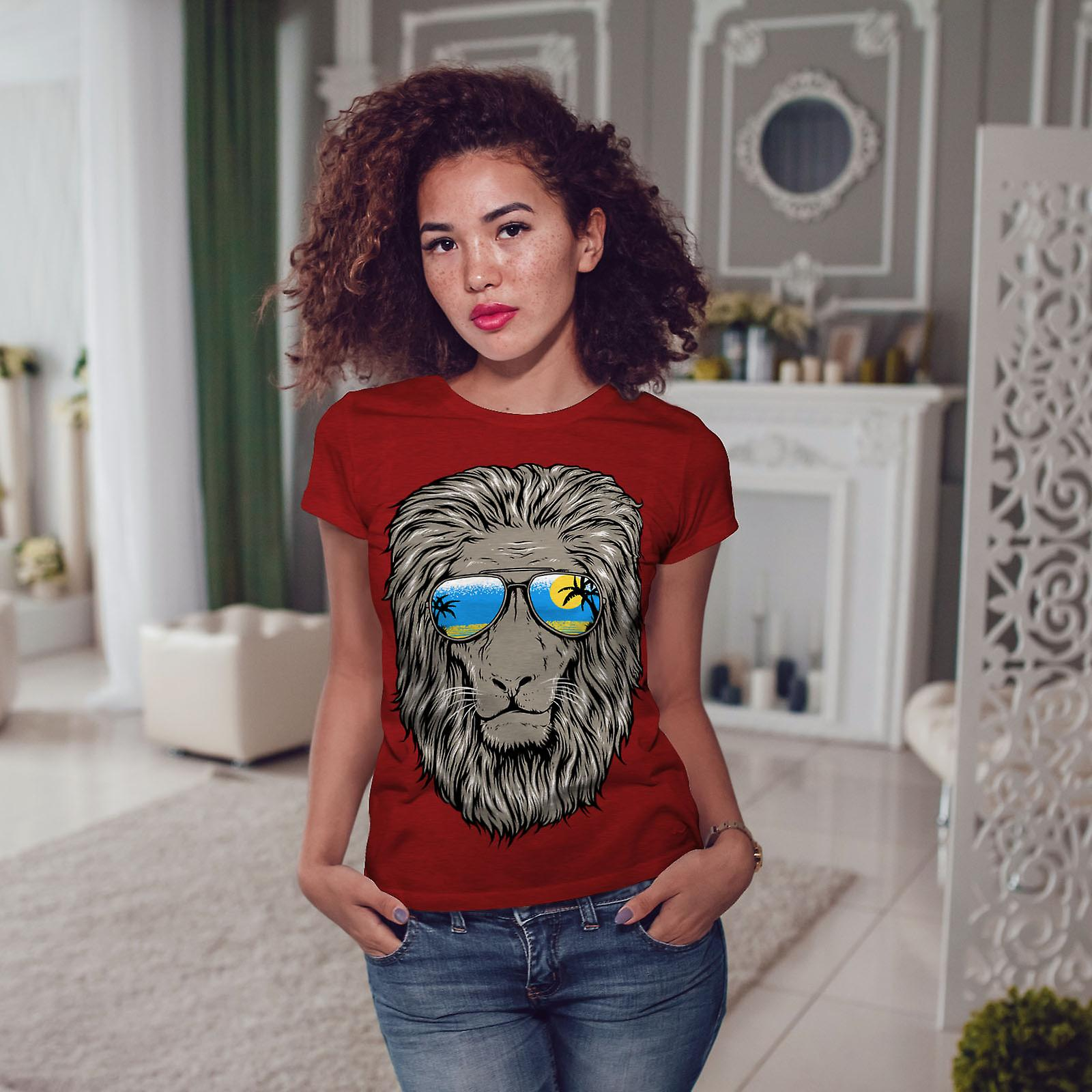 Plage de Lion soleil RedT-chemise femme | Wellcoda