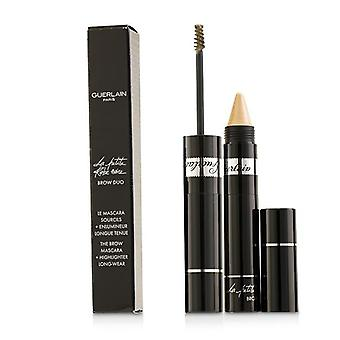 Guerlain La Petite Robe Noire Brow Duo (brow Mascara 4ml/0.13oz + Highlighter 1.5g/0.05oz) - # 10 Light G0424 - -