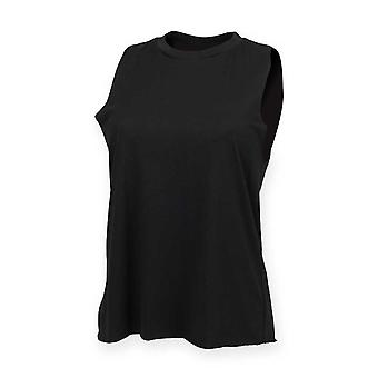 Skinni Fit Womens High Neck Vest T Shirt