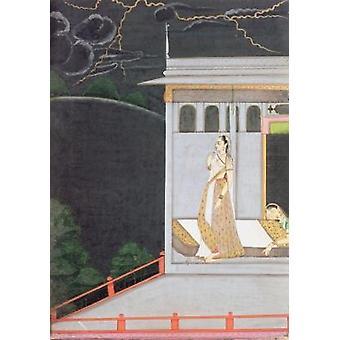 Lady attendant son amant, de la .. - Reproduction d'art