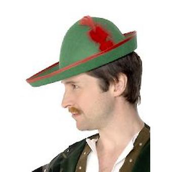 Robin Hood sombrero - fieltro verde - adulto