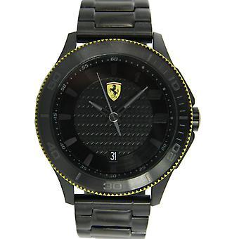 Scuderia Ferrari Black watch pulso relógio quartzo analógico inox 0830141