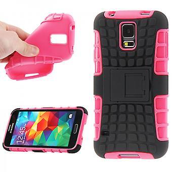 Robot SWL ibrido caso 2 pezzo rosa per Samsung Galaxy S5 mini