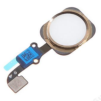 Pour l'iPhone 6 - iPhone 6 Plus - Home Button Flex - White/Gold