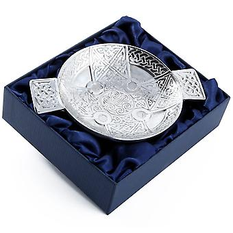 Celtic Knotwork & Spirals Pewter Quaich