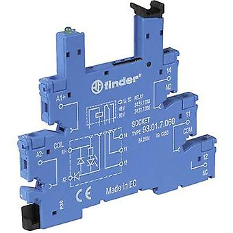 Finder 93.01.3.240 Relay socket + bracket, + LED, + EMC emission supressor Compatible with series: Finder 34 series (L x W x H) 88 x 6.2 x 76 mm 1 pc(s)