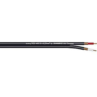 Sommer Cable 320-0101 Instrument lead 1 x 2 x 0.25 mm² Black Sold per metre
