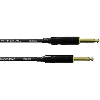 Cordial CCI 3 PP Instrumente Kabel [1x Klinke 6,35 mm - 1x Klinke Stecker 6,35 mm] 3,00 m Schwarz