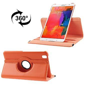 Schutzhülle PU Tablettasche (Flip Quer) für Samsung Galaxy Tab Pro 8.4 / T320 Orange
