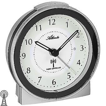 Atlanta 1855/19 alarm clock radio alarm clock silver anthracite with light snooze quietly