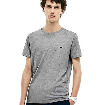 Lacoste Crew Neck Pima bomull Jersey T-shirt, Silver Chine, små