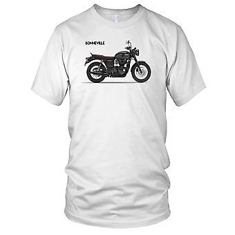 Triumf Bonneville T120 svart motorsykkel Biker Kids T skjorte