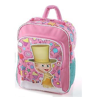 Masha e o urso escola mini mochila & ao ar livre-de-rosa