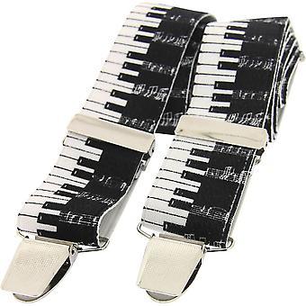 David Van Hagen Piano sleutel bretels - zwart/wit