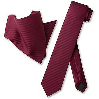 Vesuvio Napoli Skinny Necktie dungi verticale dungi Mens gât cravată & batistă