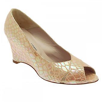 Sabrina Chic Women's Peep Toe Wedge Heel Shoe