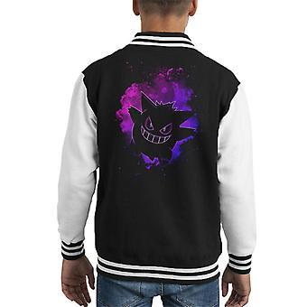 Soul Of The Ghost Gengar Pokemon Kid's Varsity Jacket