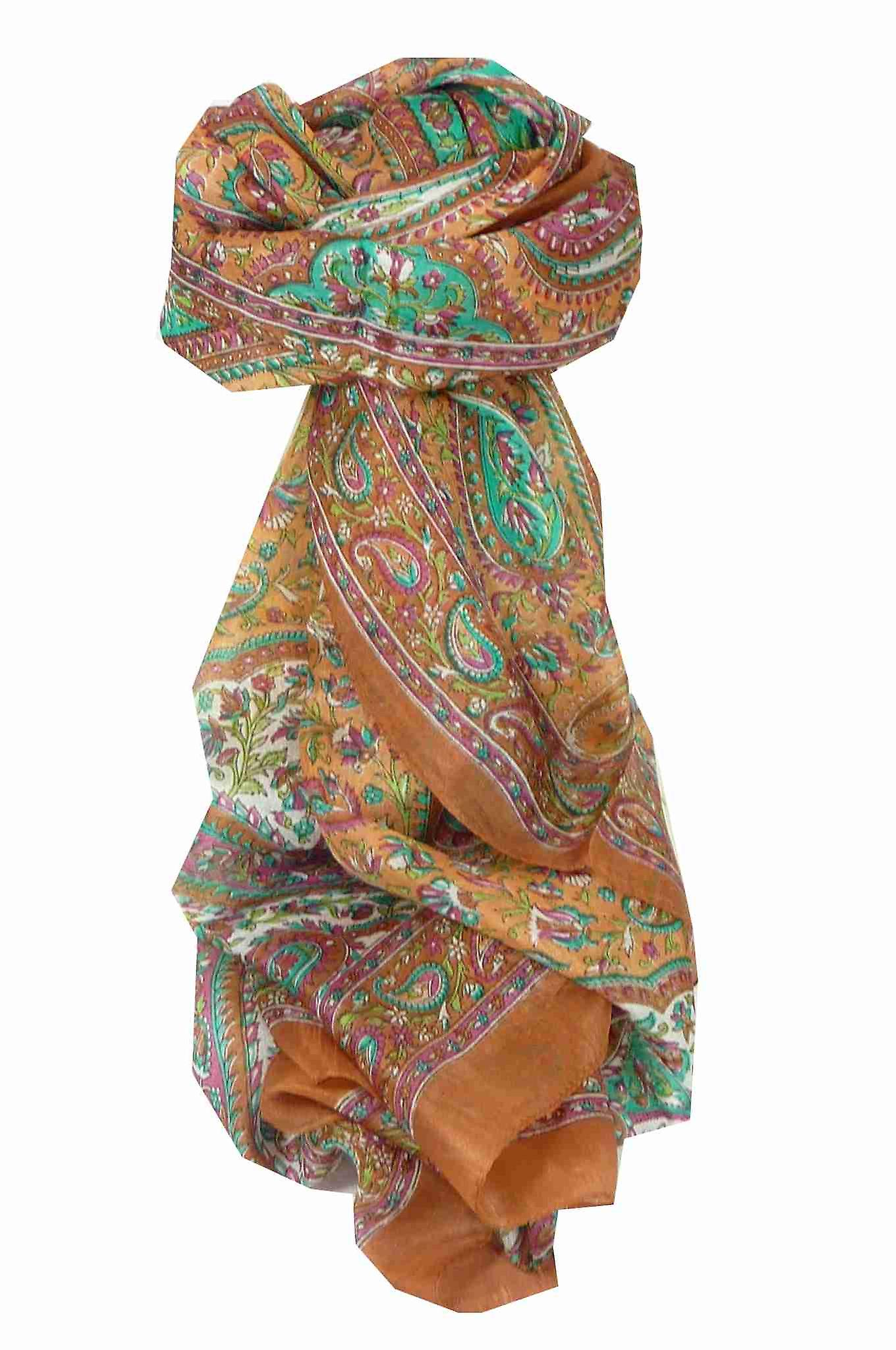 Mulberry Silk Traditional Long Scarf Tunga Copper by Pashmina & Silk