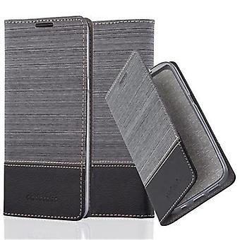 Cadorabo Hülle für LG X POWER Case Cover - Handyhülle mit Magnetverschluss, Standfunktion und Kartenfach – Case Cover Schutzhülle Etui Tasche Book Klapp Style