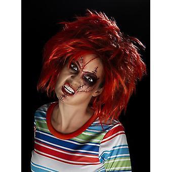Chucky make-up Kit, BLACK & rosso