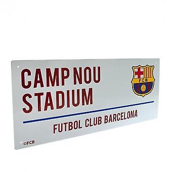 FC Barcelona Official Street Sign