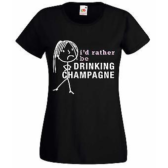 Mesdames je serait plutôt boire Champagne Tshirt noir