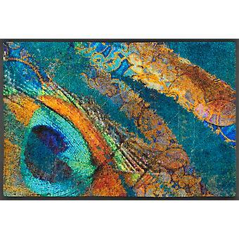 tvätt + torr matta exotiska pavo tvättbara smuts matta