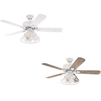 "Techo ventilador Barnett blanco 122cm/48 ""con LED"