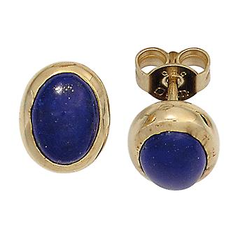 Lapis lazuli earrings 585 Gold Yellow Gold 2 Lapis blue earrings gold gemstone jewelry