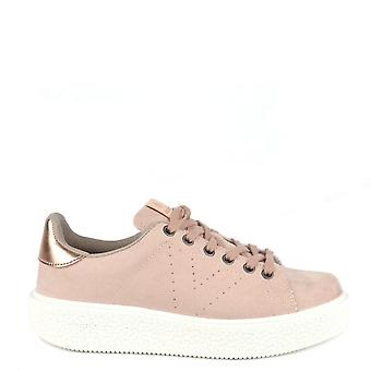 Victoria Shoes Utopia Nude Faux Suede Trainer