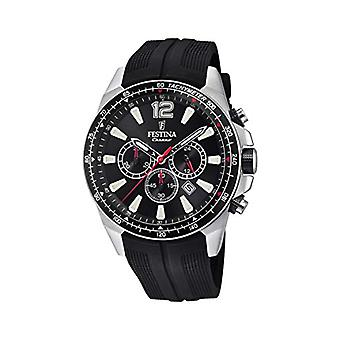 Festina watch Chronograph quartz men with strap in PU F20376/3