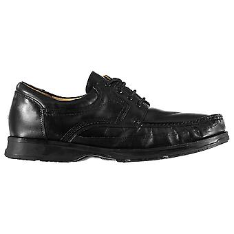 Jonathon Charles Mens Canoe Leather Lace Up Shoes