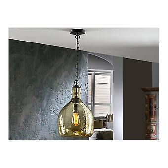 Schuller Laia Retro Amber Dotted Glass Ceiling Pendant