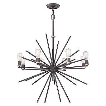 Lámpara luz de Uptown Carnegie ocho - Elstead iluminación Qz / QZ/CARNEGIE8