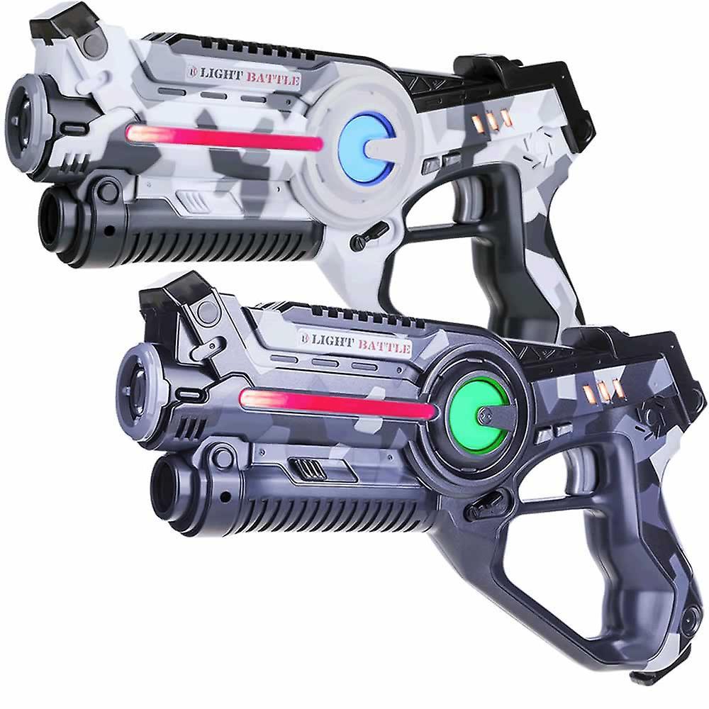 2 laserpistolen camo grijs/wit